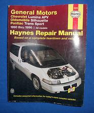 Haynes 38035 Repair Manual Chevrolet Lumina Oldsmobile Silhouette Pontiac Trans