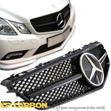 Fit Benz 10-2013 W207 C207 E350 E500 SL Style All Glossy Black Front Vent Grille