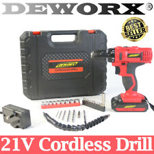 21V Cordless Drill Driver 2-Speed Electric Screwdriver w/ Carry Case 29Pcs Kit