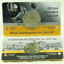 2 Euro Münze Gedenkmünze Belgien Universität Liege Lüttich 2017 in Coincard