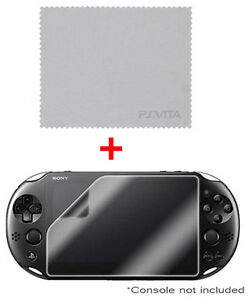 OFFICIAL Sony Playstation PS VITA Clear Front Screen Protector & Cleaning Cloth