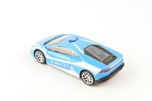 1/43 MONDO Blue POLIZIA Huracan Diecast Vehicle Display Car Toy
