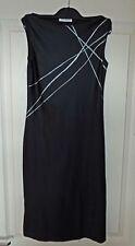 Vintage 'Topshop' Black Dress Size 10 - Shiny Lycra Spandex