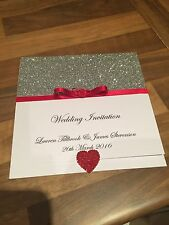 20 Wedding Pocketfold Invitations With Rsvp Cards And Poem Cards