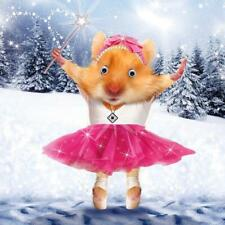 Ballerina Hamster Googlies Christmas Card Tracks Wobbly Eyes Greeting Cards