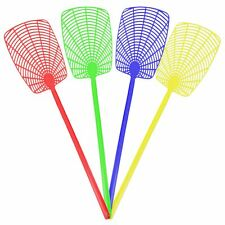 More details for 4x plastic fly swatters extra long reach bug mosquito wasp insect pest control