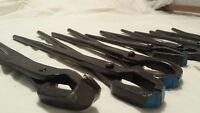 Blacksmith farrier forge tongs nippers x Set Of 10 anvil  hand forged item