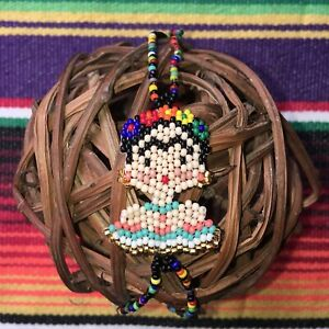 Frida Kahlo Bracelet Glass Seed Bead Chevron Dress Turquoise
