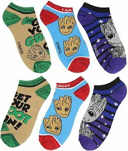 Marvel Guardians of The Galaxy I Am Groot 3 Pack Ankle Socks