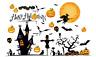 Spooky Halloween Party Decor Horror Witch Pumpkin Tomb Wall Sticker DIY Decals E