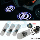 4x Car Door Step Led Welcome Laser Projector Logo Ghost Shadow Light for Nissan