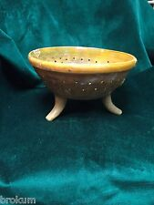 RARE! Early Terra Cotta Pottery Footed Sieve ~ Antique and Original