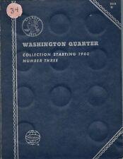 1960 - 1978 WASHINGTON QUARTERS in  VINTAGE WHITMAN FOLDER COMPLETE - 35 COINS