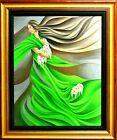 "Noel Suarez-""Primavera""-Framed Ltd Ed Mixed-Media Hand Embellished Giclee/Canvas"