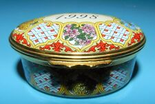 Halcyon Days Enamels Oval Trinket Box 1998 A Year To Remember