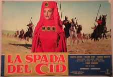 Fotobusta LA SPADA DEL CID 1962 CHANTAL DEBERG, ROLAND CAREY, JEFF RUSSEL