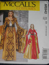 Medieval Renaissance Costume Dress Belts size 14-22 Sewing Pattern McCalls 6940