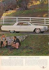 1964 Cadillac 2-door  PRINT AD