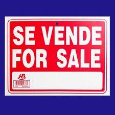"SE VENDE - FOR SALE   Flexible Heavy  Plastic Sheet   9""x12"" - 1 Sign"