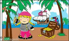 Little Pirate Princess Treasure Island Pirate Birthday Party Banner 5'x3' Flag