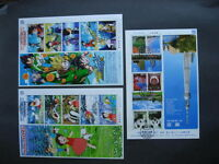JAPAN 3 nice RECENT full sheets postally used!