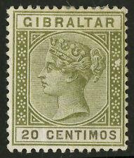 Gibraltar   1895   Scott #31a    MLH  Flat Top C Variety