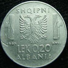 1940 Albania   0,20 lek ERRORE anno  XVII