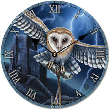 Owl Wall Clock Lisa Parker Moon Animal Print Fantasy Mystical Magic Home Deco