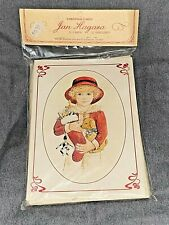 Vintage CHRISTMAS CARDS Featuring Art by JAN HAGARA Chris w/ Stocking & Puppy