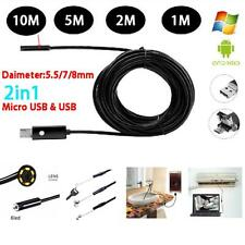2in1 LED Waterproof Endoscope Snake HD Borescope Fr Android/Smartphone/Computer