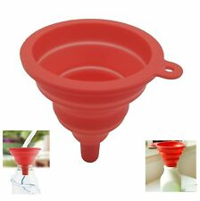 Funnels - Portable Silicone Collapsible Funnel Foldable Funnel For Liquid-Red