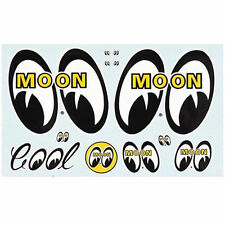 Mooneyes Original Sticker Sheet Moon GM Hot Rod Metalflake Decal Rock Ford Chevy