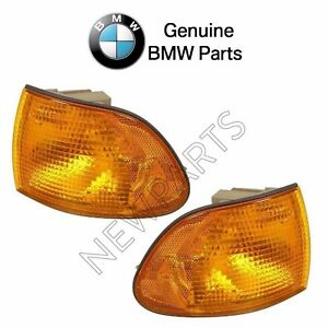 For BMW E38 740i 750iL Set of Front Left+Right Turn Signal Lights w/ Yellow Lens