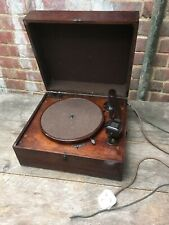 Columbia Gramophone 78 Record Player Model No.226 Wooden Case Antique Bakerlite