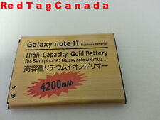 3.7V New 4200mAh Battery for Samsung Galaxy Note II N7100 Gold0 - Canada