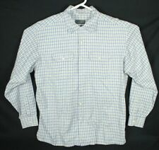 Sulka Men's Size XL Button Down L/S Sleeve Shirt Made in Italy Blue Yellow White