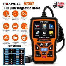 Full OBD2 Diagnostic Mode Check Engine Fault Code Auto I/M Hot Key Foxwell NT301