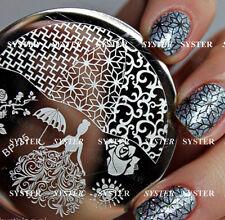 New Design DIY Nail Art Image Stamp Stamping Plates Manicure Template #SB-BP-25