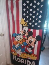 Disney's Mickey Mouse Beach Towel With Donald Duck And Goofy