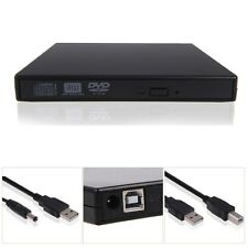 External Black USB Slim 8x DVD±RW DL DVD CD RW Burner Writer Drive + LightScribe