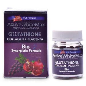 Active White Max Glutathione + Collagen + Placenta 1050mg 50s