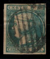 P130446/ SPAIN STAMP / Y&T # 16 USED CERTIFICATE CV 600 $