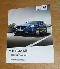 BMW M5 Price List 2013 - F10 Saloon