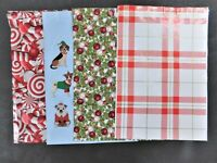 100 10x13 Plaid Christmas Candy Cane Puppies Set Mailers Poly Shipping Envelopes