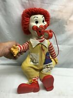 Vintage 1978 Ronald McDonald Plush Doll with Whistle 20in Tall