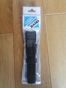 Genuine Casio Replacement Black Rubber Watch 10525191 Band fits GG-1000GB-1A
