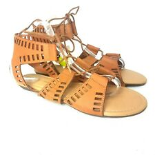 Atmosphere Womens Sandals UK 8 EU 42 Brown Ankle Flats