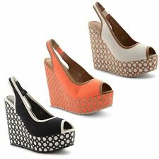 """Dolcis Women's Synthetic Wedge Very High Heel (greater than 4.5"""") Shoes"""