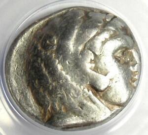 Alexander the Great III AR Tetradrachm Silver Coin 336-323 BC - ANACS VF25