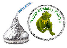 216 KERMIT THE FROG MUPPETS BIRTHDAY PARTY FAVORS HERSHEY KISS KISSES LABELS
